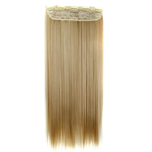 """24"""" 120g #27M613 One Piece 5 Clips Straight Synthetic Clip in Hair"""