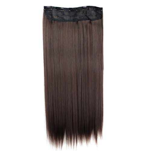 "24"" 120g #2M33 One Piece 5 Clips Straight Synthetic Clip in Hair"