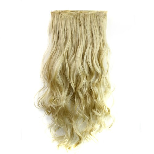 """24"""" 120g #24M613 One Piece 5 Clips Curly Synthetic Clip in Hair"""
