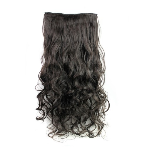 "24"" 120g #2 One Piece 5 Clips Curly Synthetic Clip in Hair"