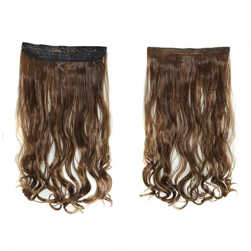 "24"" 120g #12 One Piece 5 Clips Curly Synthetic Clip in Hair"