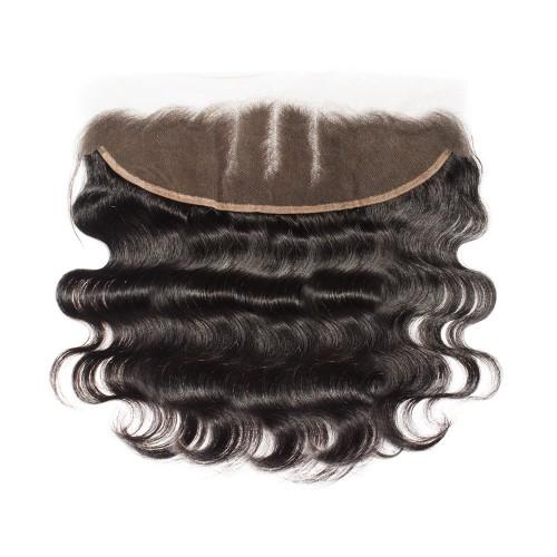 Virgin Brazilian Hair Body Wavy Hand Tied 13*4 Three Part Lace Frontal Closure