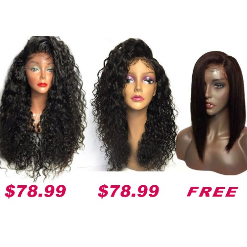 USA Stock Buy 2 Get 1 Free Curly Wigs Sale On Pack PWSF472