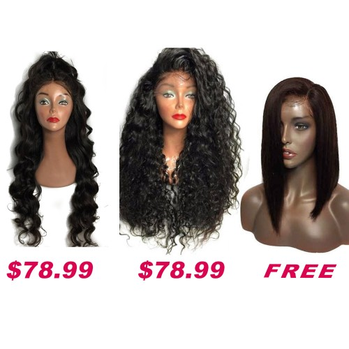 USA Stock Buy 2 Get 1 Free Curly Wigs Sale On Pack PWSF477