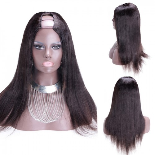 28 Inch #2 Yaki Indian Remy Hair U part Wigs PWU25