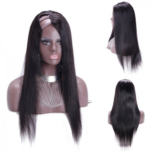 30 Inch #2 Yaki Indian Remy Hair U part Wigs PWU26