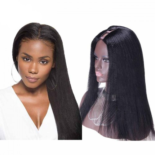 26 Inch #1B Yaki Indian Remy Hair U part Wigs PWU29