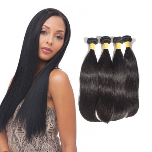 Virgin Indian Hair Straight 4 Bundles