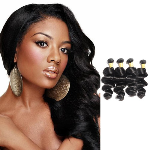 USA Stock Virgin Indian Hair Loose Wavy 4 Bundles