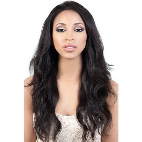 Natural Color Indian Remy Hair Body Wavy Front Lace Wigs PWFU36