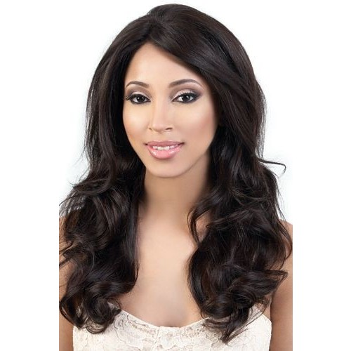 26 Inch Natural Color Indian Remy Hair Natural Wavy Front Lace Wigs PWFU53