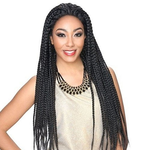 Lace Front Synthetic Hair Wig PWS06 Gorgeous Braid(#1B Natural Black)