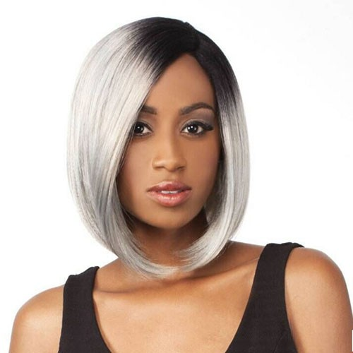 Lace Front Synthetic Hair Wig PWS57 Layer Straight(Picture Color)
