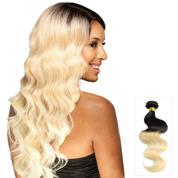 16 Quot 26 Quot Ombre Hair Extensions Indian Remy Human Hair Body