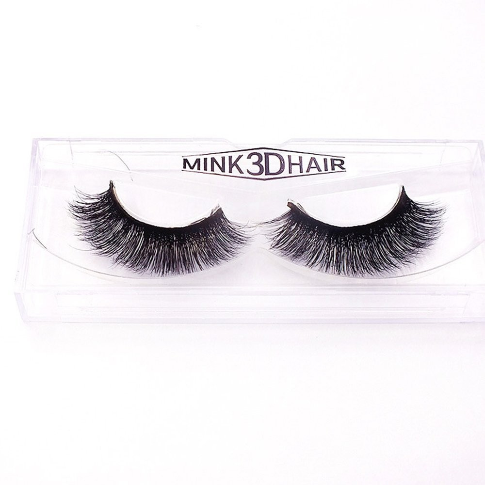 1Pair Luxury 3D Mink Fur False Eyelashes Extensions