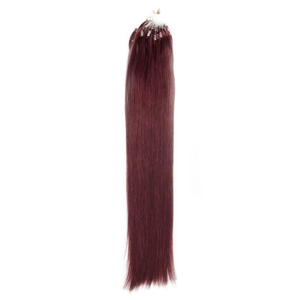 Straight Micro Loop Hair Extensions 99j