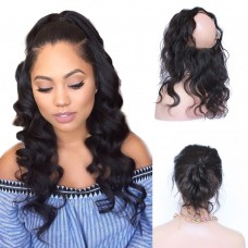 10-20 Inch Body Wavy 7A Brazilian Virgin Hair 360 Lace Frontal Band 22*4*2