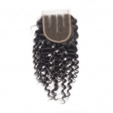 10-20 Inch Virgin Brazlian Hair Deep Curly 4*4 Three Part Lace Top Closure
