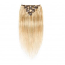 7pcs Straight Clip In Remy Hair Extensions #27/613
