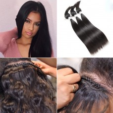 3PCS Braid In Bundles Straight Virgin Hair
