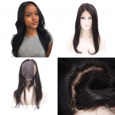 10-20 Inch Virgin Brazilian Hair 13*6 CC Lace Frontal with Back Weaving Cap Straight