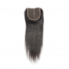 10-20 Inch Virgin Brazilian Hair Strainght 4*4 Hand Tied Middle Part Lace Top Closure