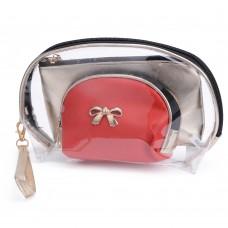 Cosmetic Bag Toiletry Bag Red