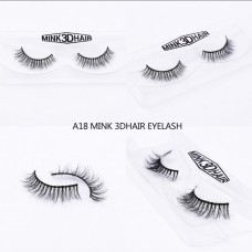 1Pair Luxury 3D Mink Fur False Eyelashes Extensions A18
