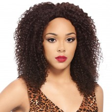 "18"" #1 Jet Black India Remy Deep Wavy Full Lace Wig PWFL74"