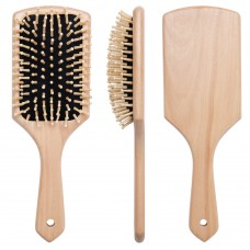 Large Square Paddle Wooden Hair Brush 25cm