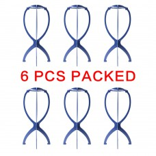 6PCS Portable Wig Stand Blue & Four Color Option HT21