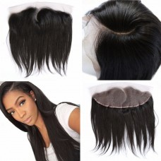 Pre Plucked Left Side C Part Lace Frontal 13x4 Brazilian Hair Straight