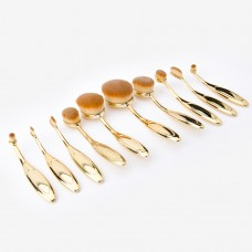 10 PCS Rose Gold Makeup Brush