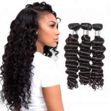3 Bundles Loose Deep Wavy Brazilian Virgin Hair