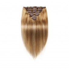 7pcs Straight Clip In Remy Hair Extensions #8/613