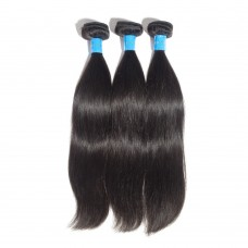 "10""-30"" 3 Bundles Straight Virgin Peruvian Hair Natural Black 300g"