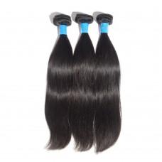 "10""-30"" 3 Bundles Straight Virgin Peruvian Hair Natural Black 300g"