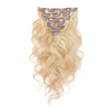 100g 18 Inch #27/613 Body Wavy Clip In Hair
