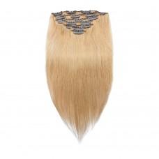 100g 18 Inch #27 Strawberry Blonde Straight Clip In Hair