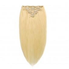 100g 18 Inch #613 Lightest Blonde Straight Clip In Hair