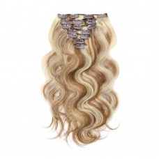 100g 18 Inch #8/613 Body Wavy Clip In Hair