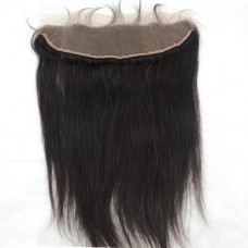 8-20 Inch Virgin Brazilian Hair Straight Hand Tied 13*4 Free Part Lace Frontal Closure