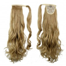 "22"" 120g #24/27 Synthetic Hair Long Wavy Clip In Ribbon Ponytail"