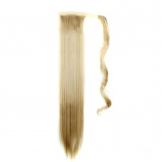 "24"" 190g #27/613 Synthetic Hair Straight Clip In Ribbon Ponytail"