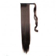 "24"" 190g #4 Synthetic Hair Straight Clip In Ribbon Ponytail"