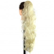 "22"" 160g #613 Long Claw Clip Drawstring Curly Synthetic Ponytail"