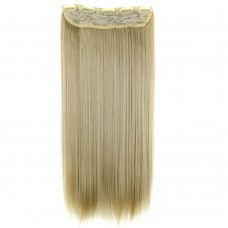 "24"" 120g #24M613 One Piece 5 Clips Straight Synthetic Clip in Hair"