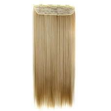 "24"" 120g #27M613 One Piece 5 Clips Straight Synthetic Clip in Hair"