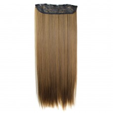 "24"" 120g #2M30 One Piece 5 Clips Straight Synthetic Clip in Hair"