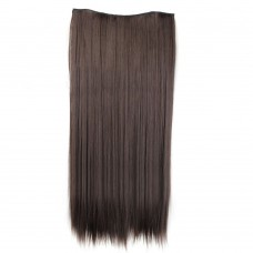 "24"" 120g #4 One Piece 5 Clips Straight Synthetic Clip in Hair"